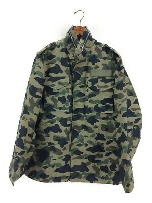 9eb492fa530a A BATHING APE 1ST CAMO MILITARY JACKET GREEN (L) Bape Authentic Rare