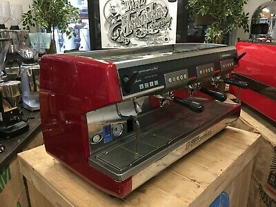 Nuova Simonelli Aurelia Red 3 Group Espresso Coffee Machine Cafe Latte Barista