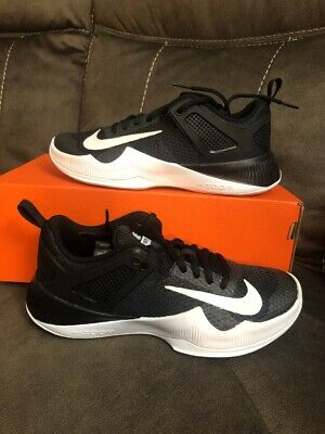 the best attitude b6ff4 4d4be Womens Nike Air Zoom Hyperace Volley Ball Shoes Black White Sz 6 902367 001