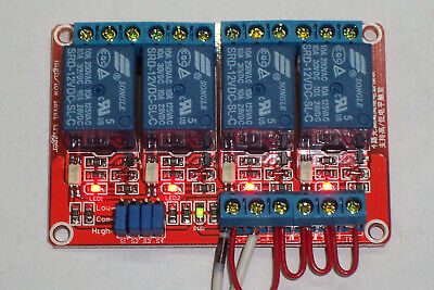 Usa! 12 Vdc @10 Amp 4-Channel High / Low Level Input Relay Boards