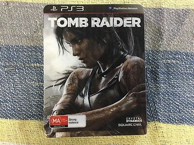 Tomb Raider **STEELBOOK EDITION** Sony Playstation PS3 **VERY RARE COMPLETE**
