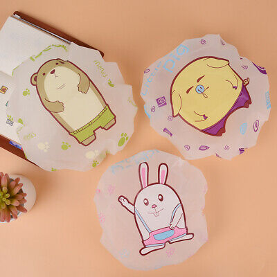 Cartoon Shower Caps Bath Shower Hair Cover Waterproof Bathing Protective Cap IA