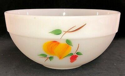 "Fire King GAY FAD FRUITS *COLONIAL RIM *8 3/4"" MIXING BOWL* SMALL CHERRIES*"