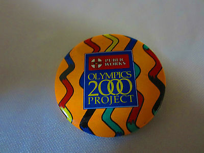 Sydney 2000 Australia NSW Public Works Olympics 2000 Project Badge Used Hard to