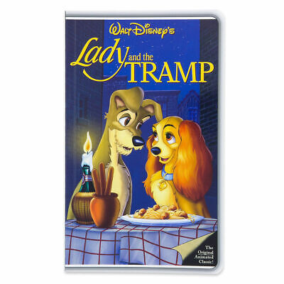 Disney Parks VHS Case Lady and the Tramp Notebook Blank Diary Journal NEW