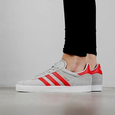 new style cae51 2404e New Adidas Originals Gazelle Shoes Clear Grey Red Youth Size 6 Junior
