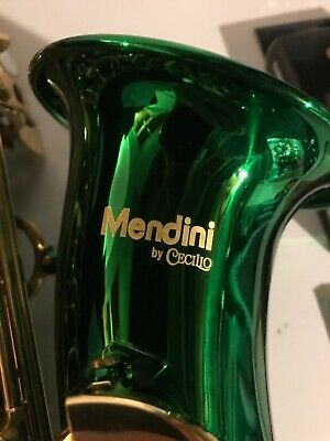 Mendini By Cecilio Green Saxophone, Case & Extras!