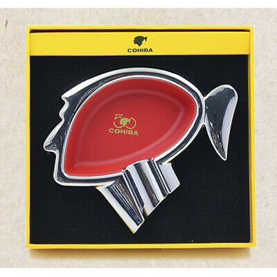 COHIBA 50th Anniversary Classic Red Metal Cigar Ashtray Antiskid