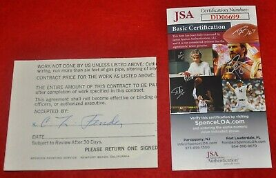 Leo Fender Signed Autographed Cut Signature From Document JSA COA
