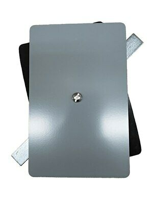 """4.5/""""x6.5/"""" Flat Oval Grey Steel Hand Hole Cover"""