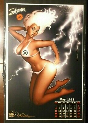Nathan Szerdy Signed 12X18 Art Print Storm Pin Up Calendar X-Men Marvel New