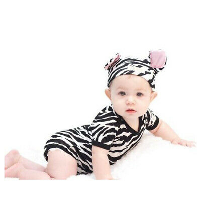 Zebra Print Baby Outfit 2 Piece by Noo Designs
