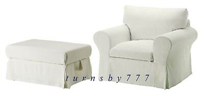 Incredible Ikea Ektorp Stenasa White Chair Footstool Slipcovers Chair Pabps2019 Chair Design Images Pabps2019Com