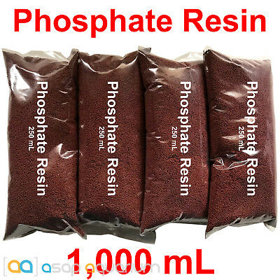 Zero Phos Resin 1000mL Phosphate Remover Plus Filter Bag Fast Free USA Shipping