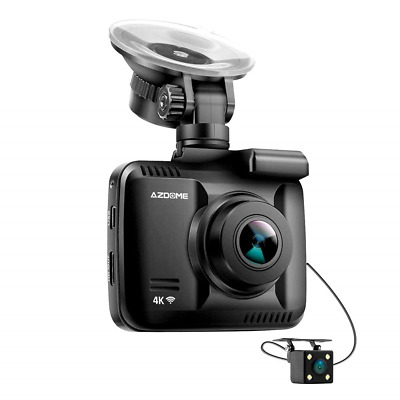 4K Ultrta HD Dash Cam - AZDOME Dual Lens Built in GPS WiFi 2160P Car Camera 170