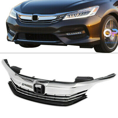 For 2016-2017 Honda Accord Sedan 4D Front Bumper Grille Upper Top Grill Assy