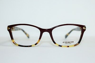 234c28c94b Brand New Coach Hc 6065 5437 Burgundy Tortoise Authentic Eyeglasses 51 17  135