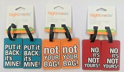 6 x Travel Luggage Tag Baggage Suitcase Bag Identity Address Name Labels