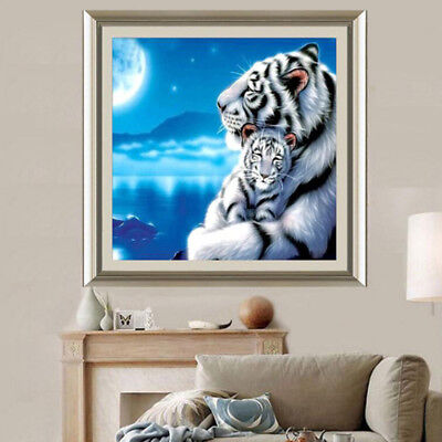 Animal Tigers Painting Cross Stitch Embroidery Decor Crafts Kit Home Decor YI