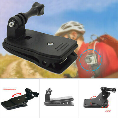 360° Rotary Backpack Belt Clip Clamp Mount For Gopro Hero 6 5 4 3+ Accessories