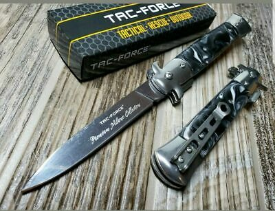 "9"" TAC FORCE Italian Milano Stiletto Spring Assisted Open Foldin9 Pocket Knife"