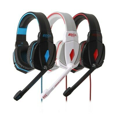 Gaming Headset Stereo Surround Headband Headphone USB 3.5mm LED with Mic For PC