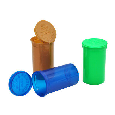 2 X Dram Squeeze Pop Top Bottle- Vial Medical Containers Tobacco
