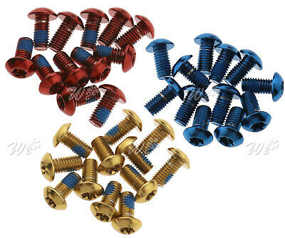 12X Cycling Bike Bicycle Disc Brake ROTOR SCREW BOLTS M5 X10MM Multi-Color