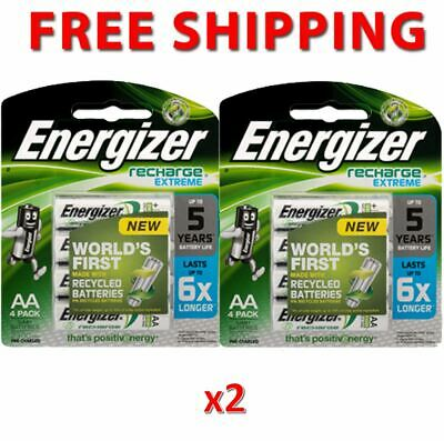 2 x Energizer Rechargeable Battery Size AA 4pk