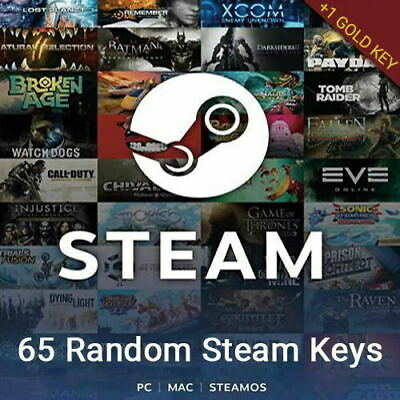 65 Random Steam Keys Bundle -Steam Games [Global:Region Free] + 1 GOLD KEY🔥🔥🔥