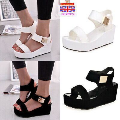 Women Wedge Platform Sandals Ladies Espadrille Ankle Strap Peep Toe Summer Shoes