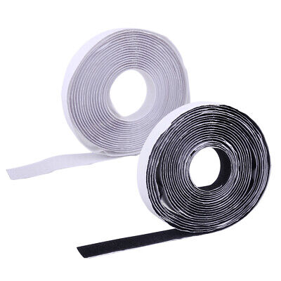 5M Sticky Back Self Adhesive Hook And Loop Tape 20mm Black / White Fastener Tape
