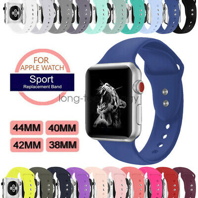 Silicona Deporte Reemplaza Banda Sport Band para Apple Watch Series 4 3 2 Strap