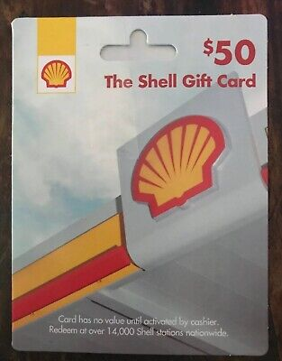 New SHELL Gift Card - $50 value W Receipt! Great Gift :) Nationwide