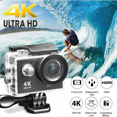 Outdoor 4K Ultra HD DV 16MP 1080p Sports Action Camera Camcorder Waterproof MY