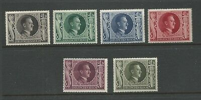 1943 The 54th Anniversary of the Birth of Adolf Hitler set of 6 Mint Hinged