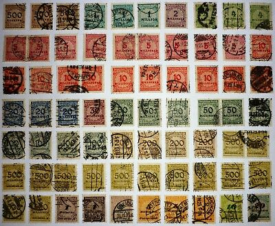 Deutsches Reich. 1923. MIXED lot INFLATION. Mi.Nr. 313-329. 70 stamps. USED.