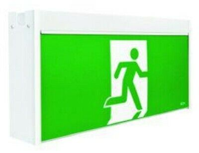 Stanilite JUMBO LED MAINTAINED EXIT SIGN 615x123x310mm Picto AOW, Ceiling Mount