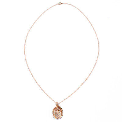 Ladies Girls Hollow Lover Acacia Leaf Buds Shaped Necklace Clavicle Chain LH