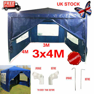 3x4M Blue Outdoor Car Canopy Portable Cover Gazebo Garage Shelter Carport Tent