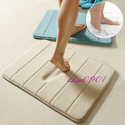 Memory Foam Soft Bathroom Bedroom Bath Mat Floor Rug Carpet Aniti Slip YI