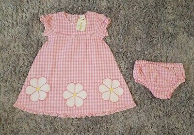 Baby Girl Bluezoo 18-24 Months Pink Gingham Dress And Cover BNWT 🌼