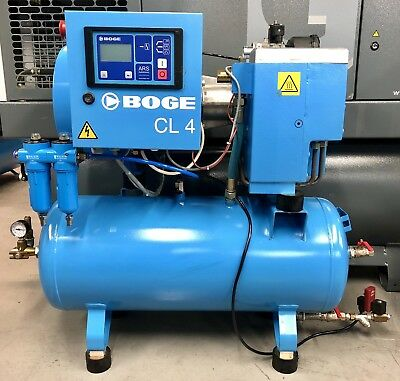 Boge CL4-90 Receiver Mounted Rotary Screw Compressor! 12Cfm! 3Kw! Immaculate!