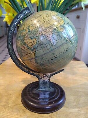 "Vintage Original 1950s CHAD VALLEY Tin Plate Globe No 10028 / 8"" Tall"