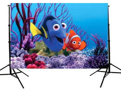 Finding Nemo Dory Personalised Birthday Party Banner Backdrop Background