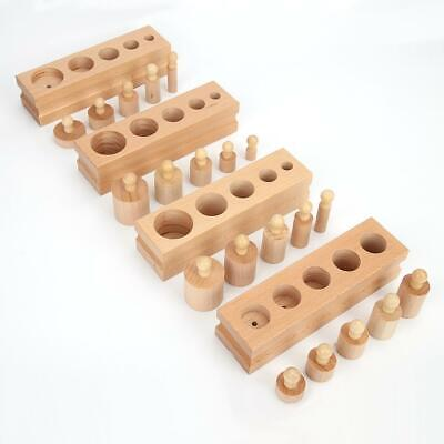 Montessori Educational wooden toy cylinder socket Y8Z2