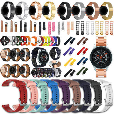Für Samsung Galaxy Watch 42mm / 46mm Leder / Nylon / Metall Uhrenarmband Strap