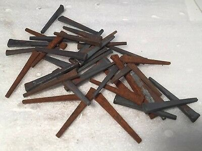 """40 Antique Vintage Square Nails 1 1/2"""" Never Used But Rusty"""
