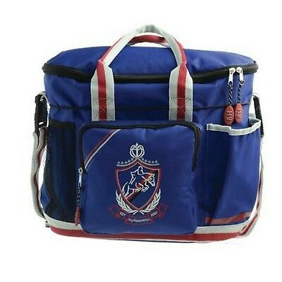 HyShine Pro Horse & Pony Grooming Bag in Navy, Red & Grey