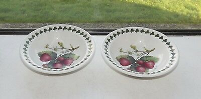 Portmeirion Strawberry Fair 2 x Cereal / Dessert Bowls 17cm by 4cm